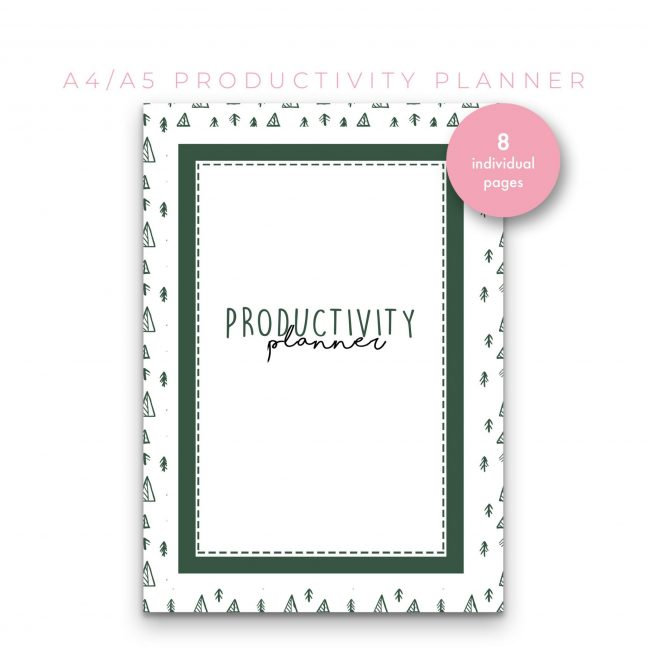 Productivity Planner 8 in 1 – Green