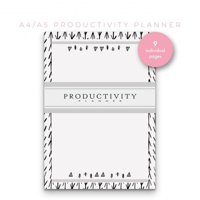 Productivity Planner 7 in 1 – Black & White
