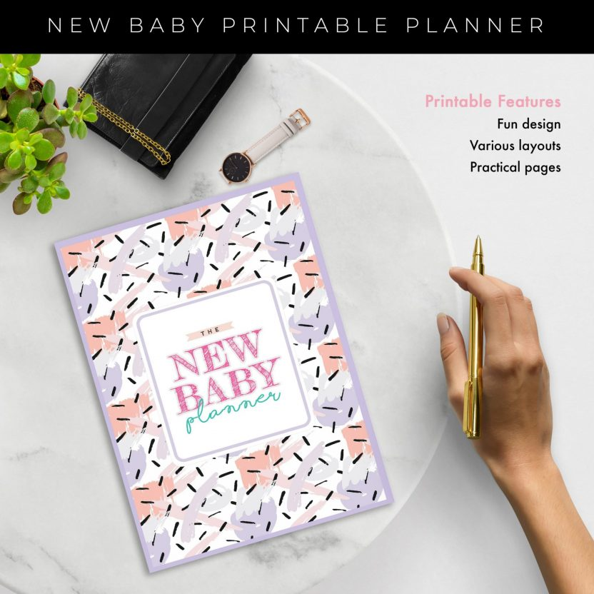 New Baby Planner 8 in 1 – Lavender