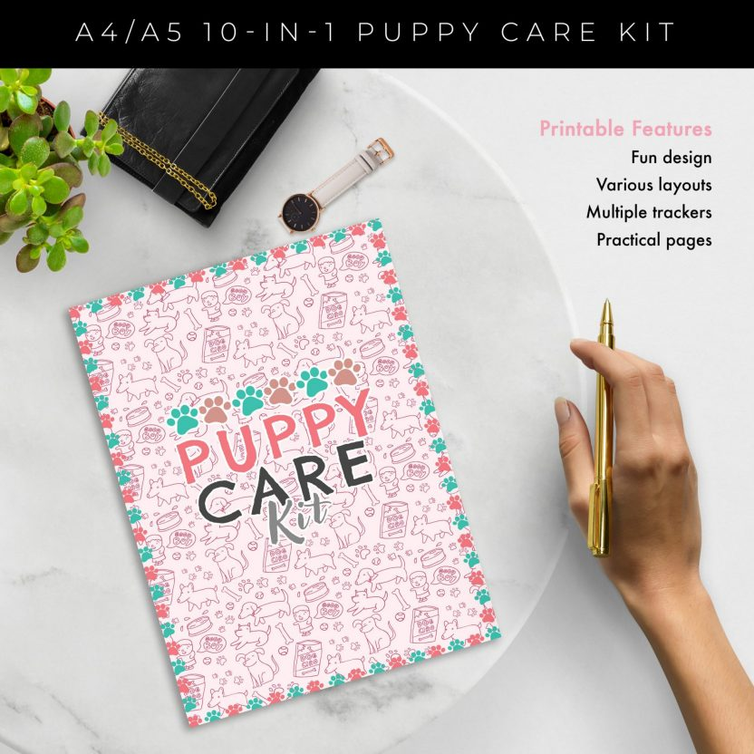 Ultimate 10 in 1 Puppy Care Kit – Pink