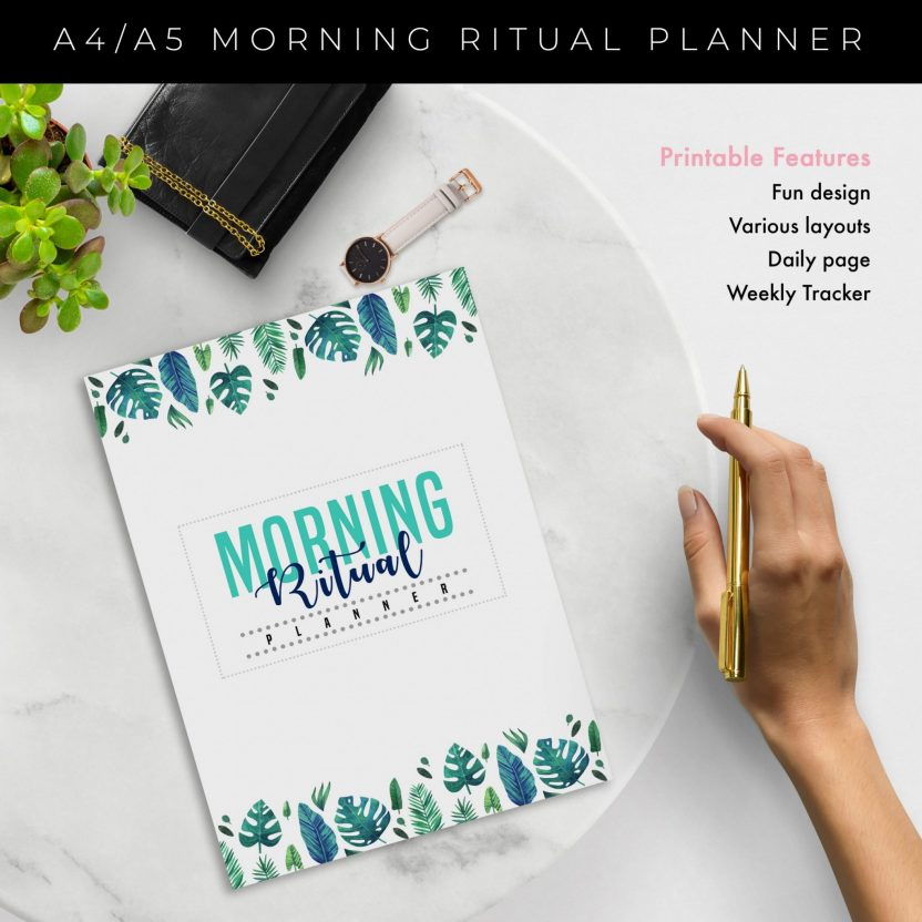 Morning Routine Planner 5 in 1 – Green