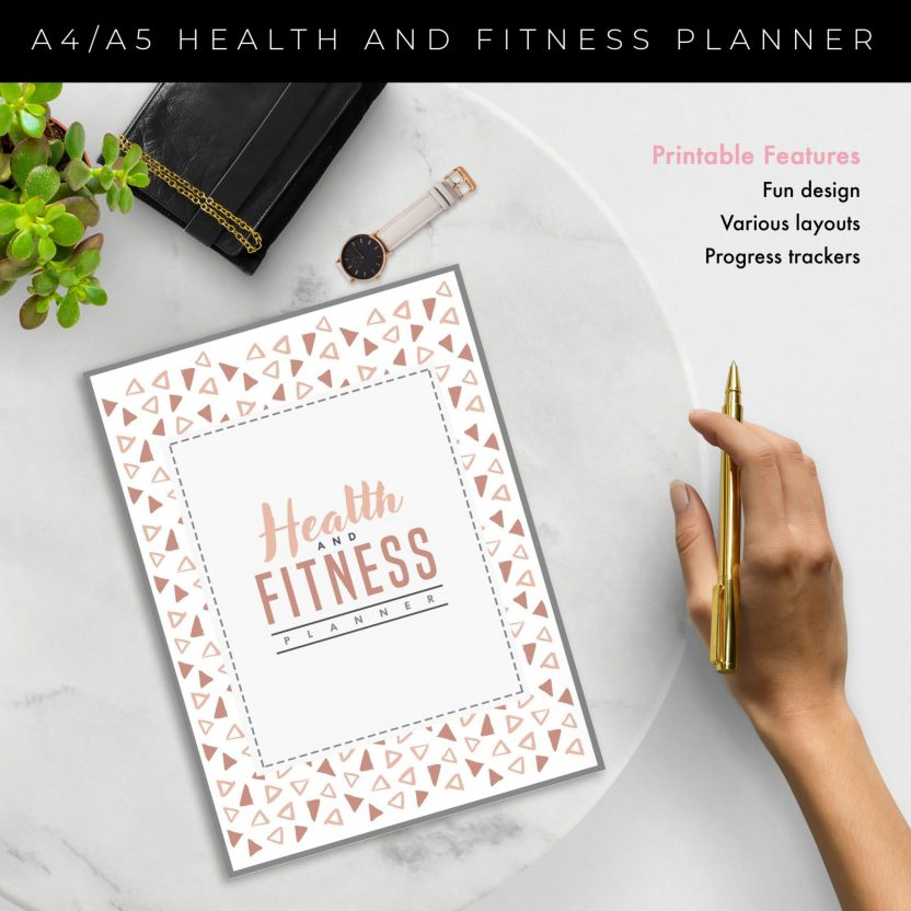 Health and Fitness Planner 10 in 1 – Peach