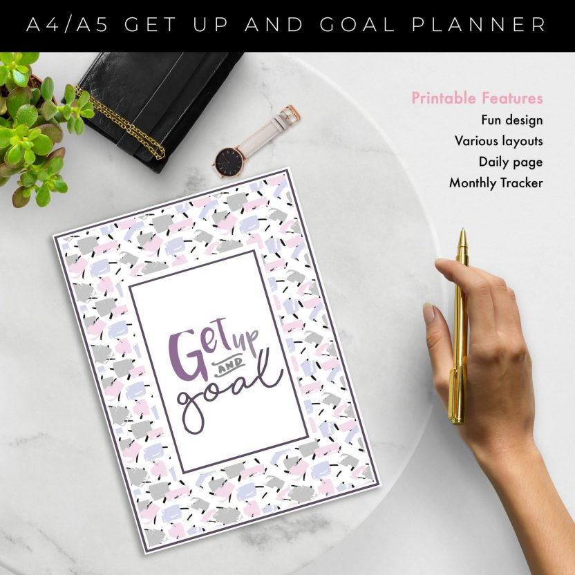 Get up and Goal – Goal Setting Planner 6 n 1 Lavender