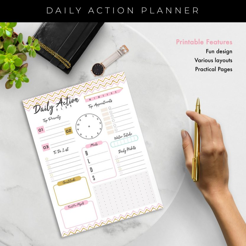 Daily Action Planner 3 in 1