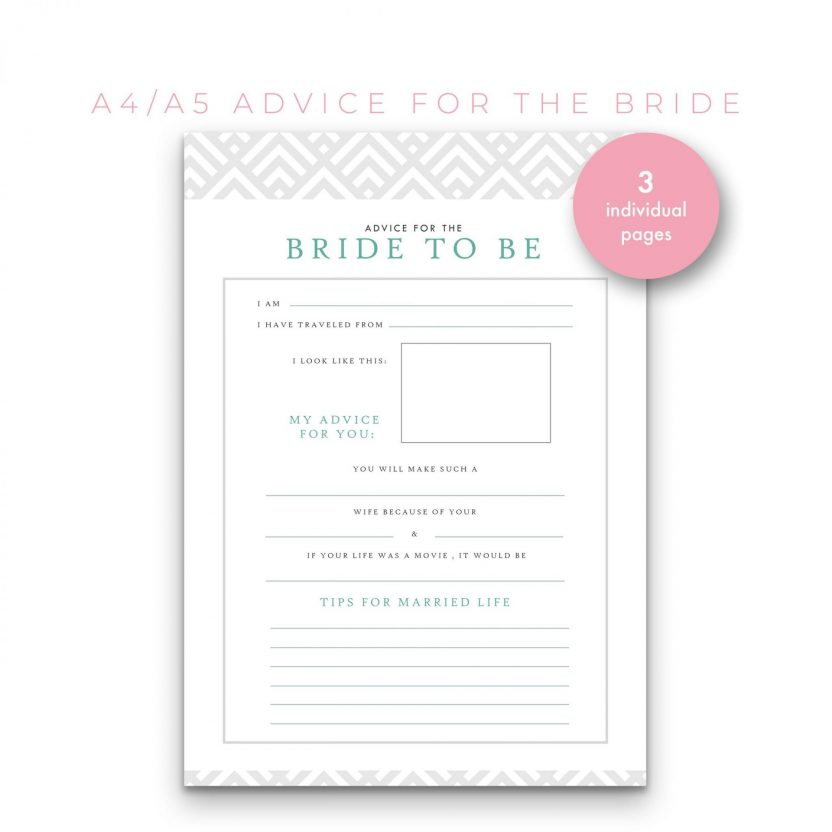Advice For Bride 3 in 1