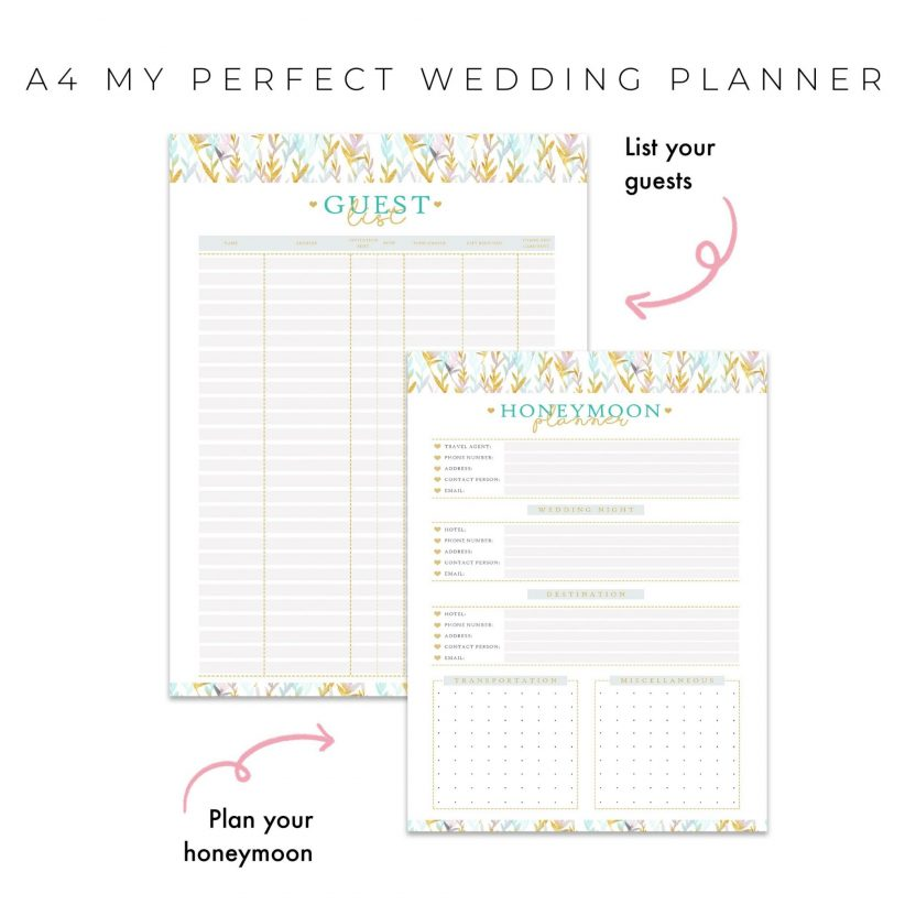 Perfect Wedding Planner 10 in 1 – MintGold