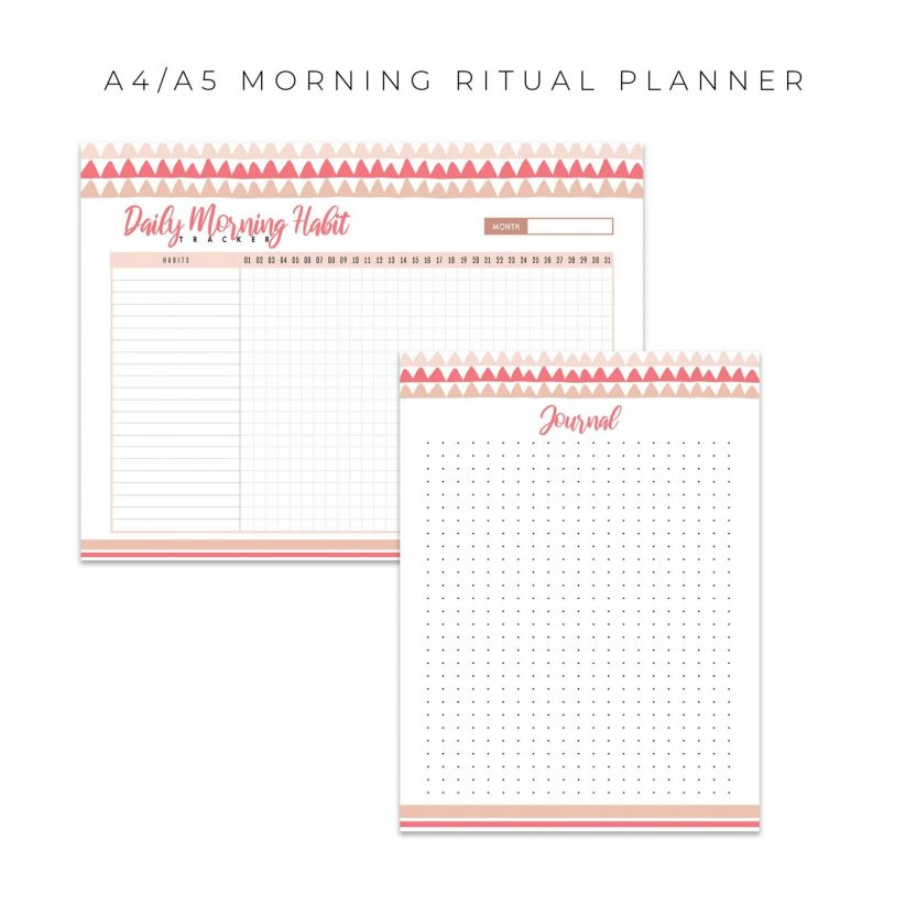 Morning Routine Planner 5 in 1 – Pink