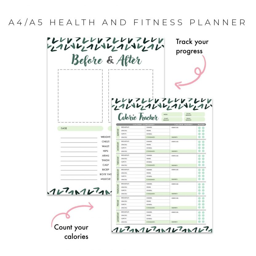 Health and Fitness Planner 10 in 1 – Lean Green