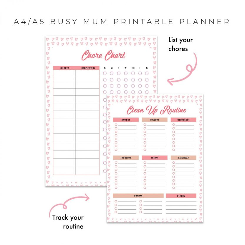 Busy Mum Family Planner 10 in 1 – Pink