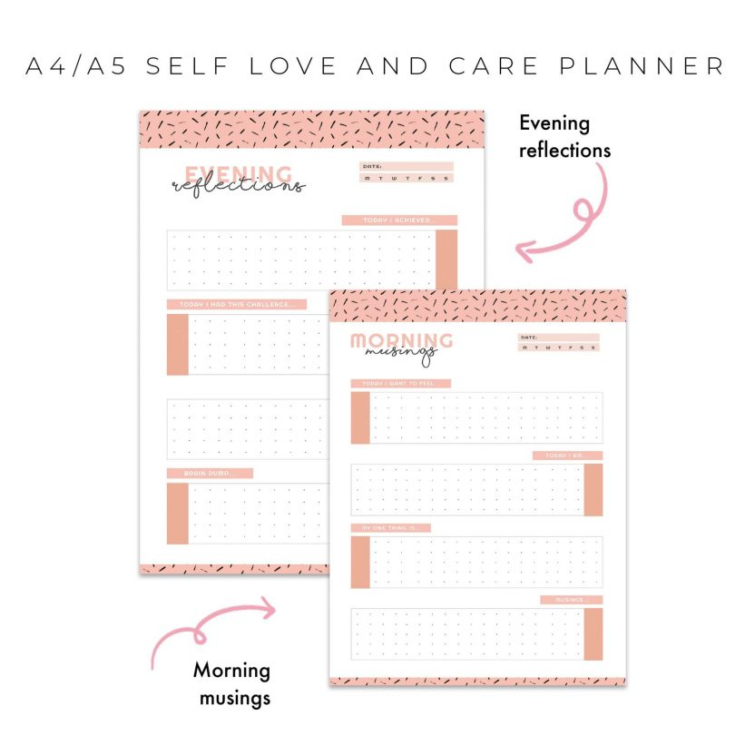 Self Love And Care Planner – Peach