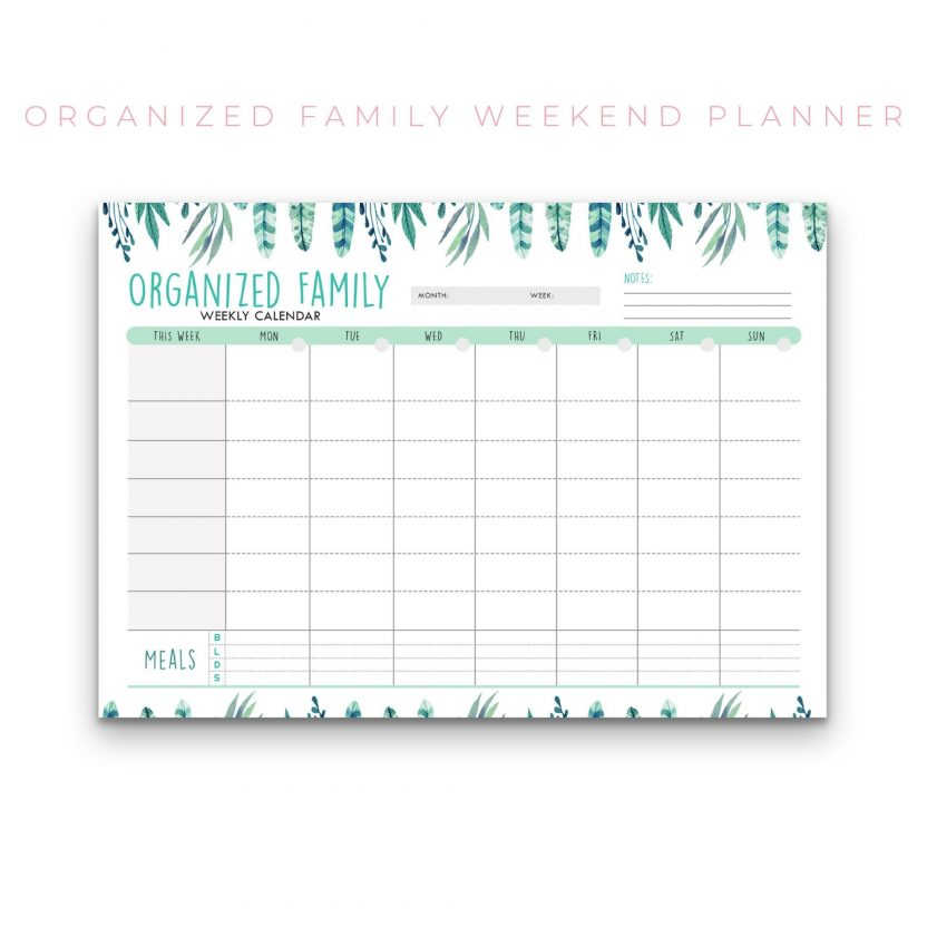 Family Weekly Calendar – 3 in 1