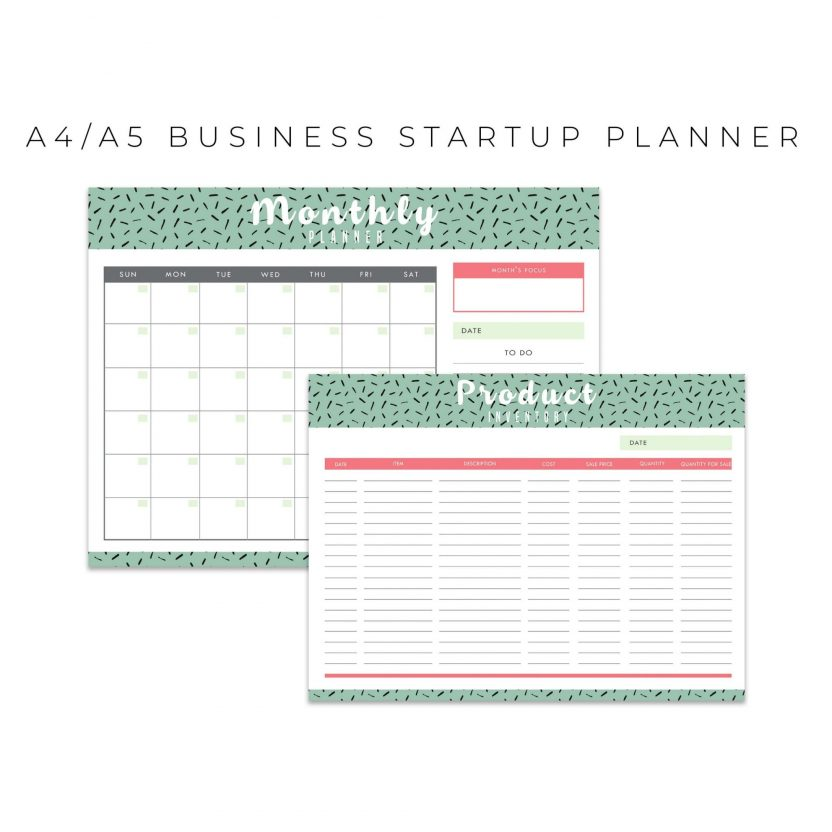 Ultimate Business Start Up Planner 20 in 1 – Mint