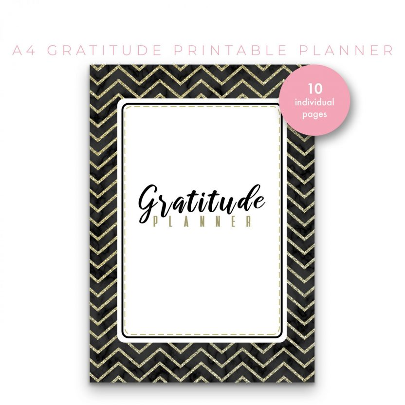 Gratitude Planner 10 in 1 – Black and Gold