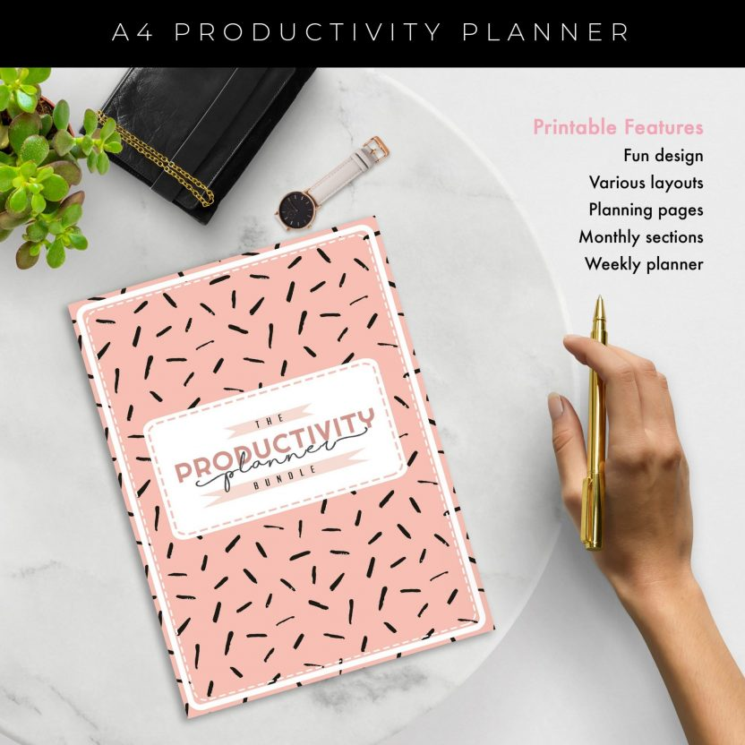 Ultimate 8 in 1 Productivity Planner – Peach