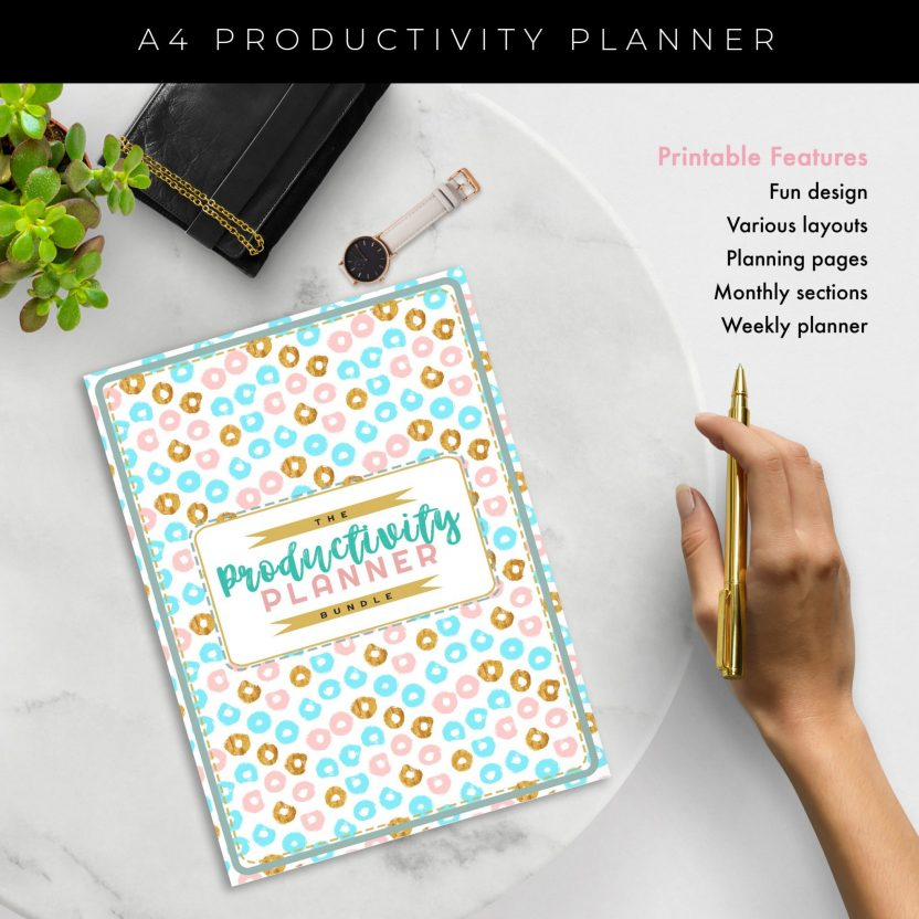 Ultimate 8 in 1 Productivity Planner – Mint