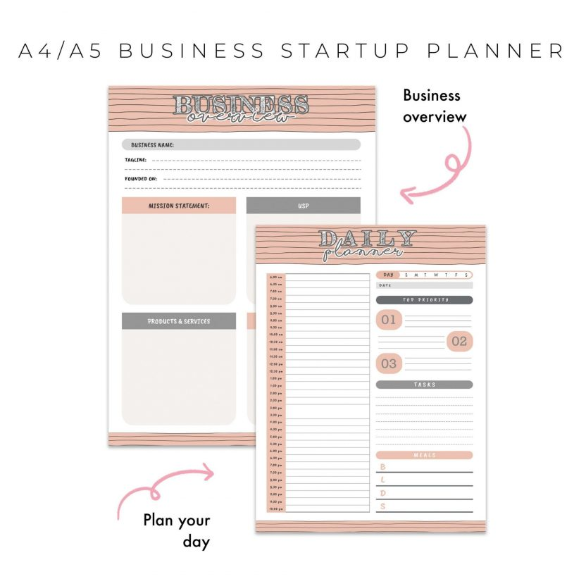 Ultimate Business Start Up Planner 20 in 1 – Peach