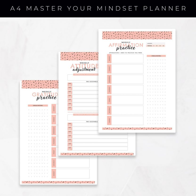 Master Your Mindset Planner 10 in 1 – Peach