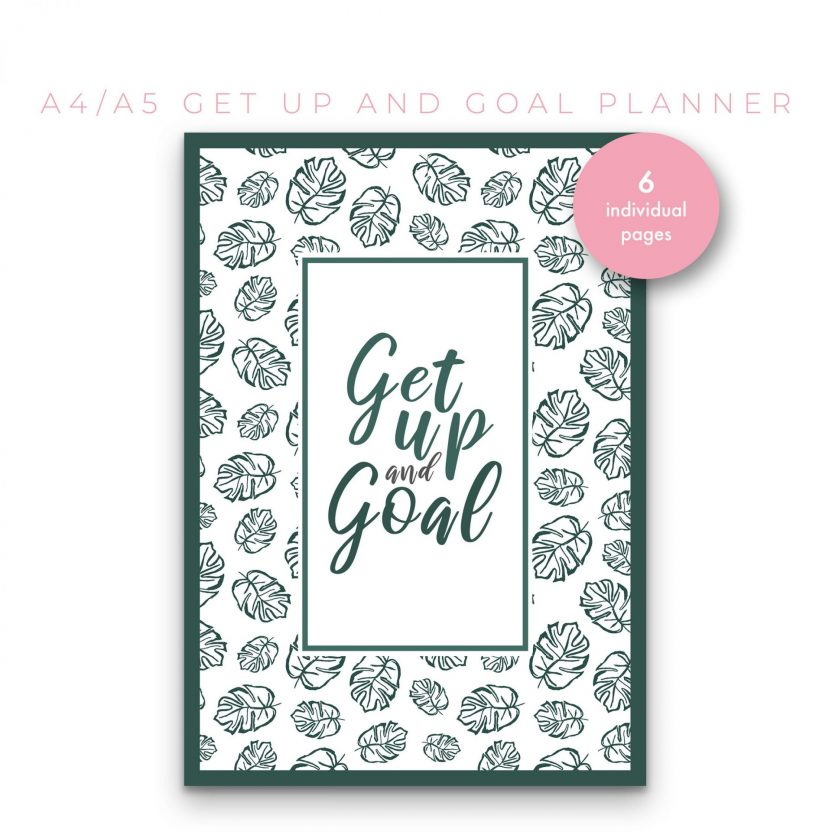 Get up and Goal – Goal Setting Planner 6 n 1 Green