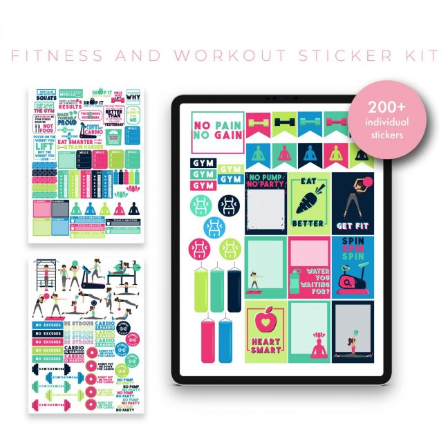 Fitness & Workout Sticker Kit