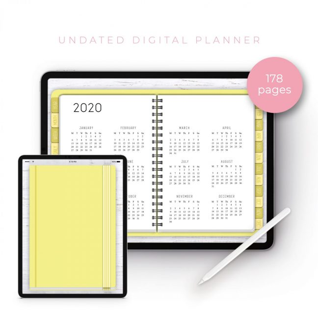 Lemon Undated Planner