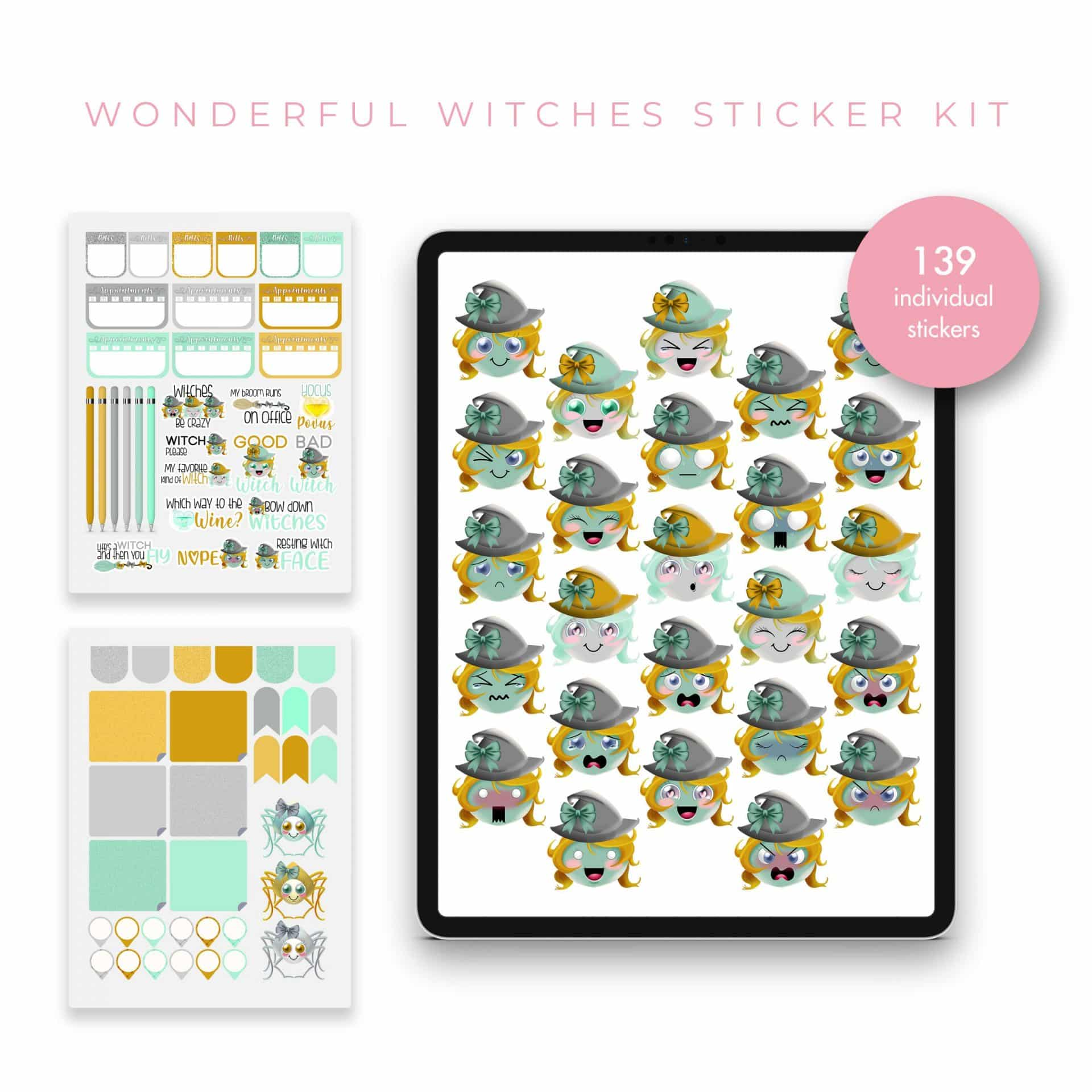 Wonderful Witches Stickers