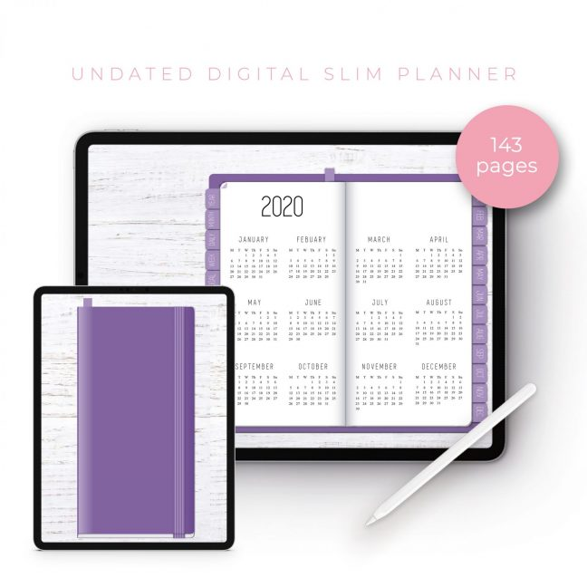 Purple Slim Undated Planner