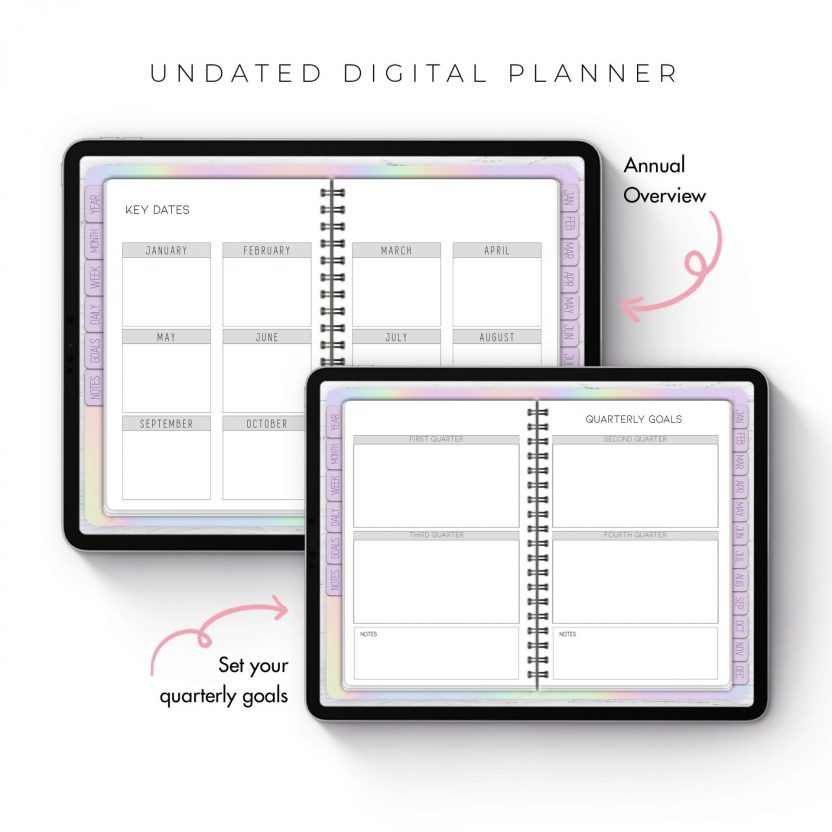 Holographic Undated Planner