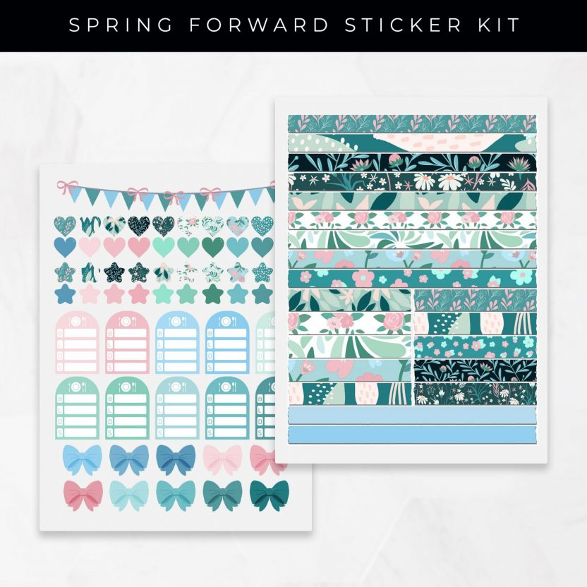 Spring Forward Stickers