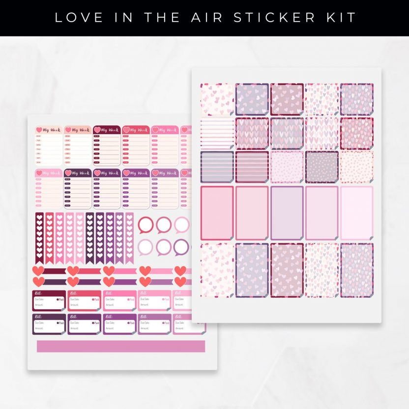 Love Is In The Air Stickers
