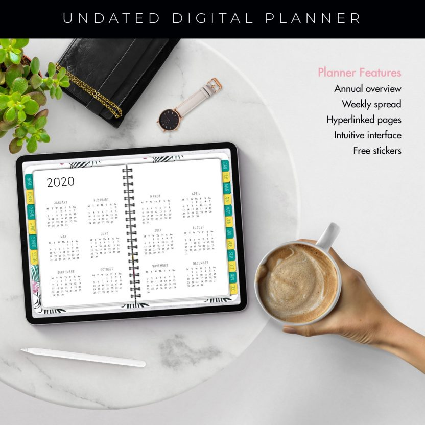 Tropical Undated Planner