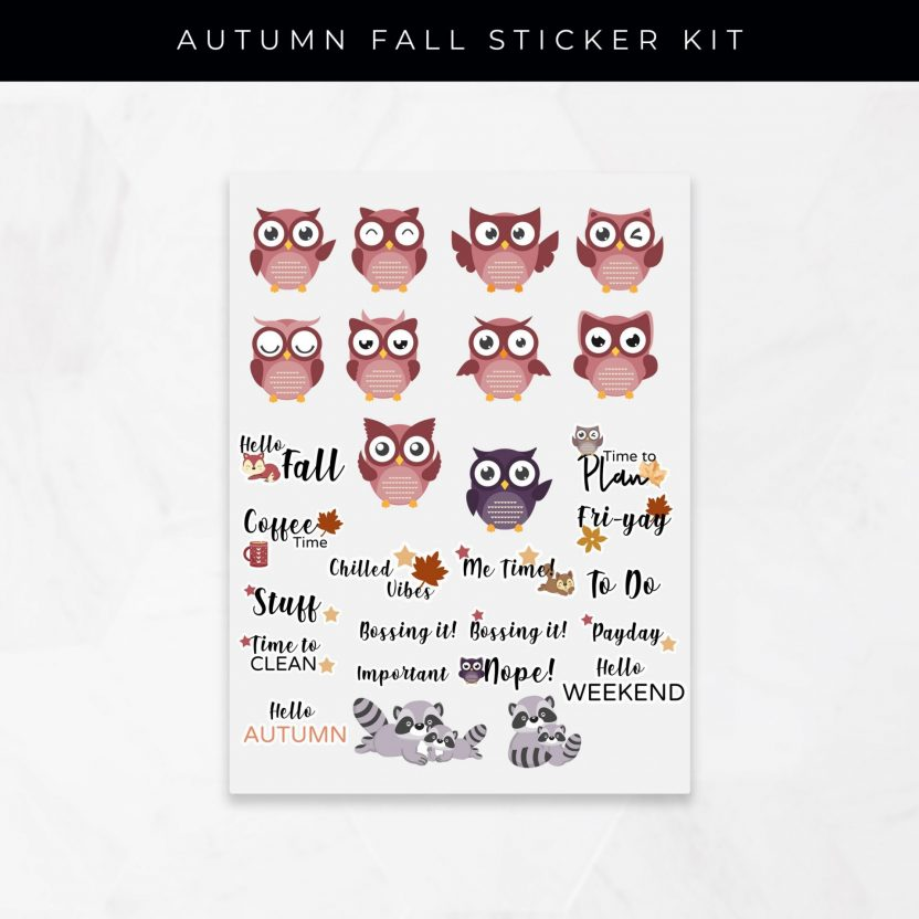 Autumn Fall Stickers