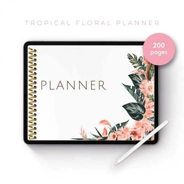 Tropical Floral Planner