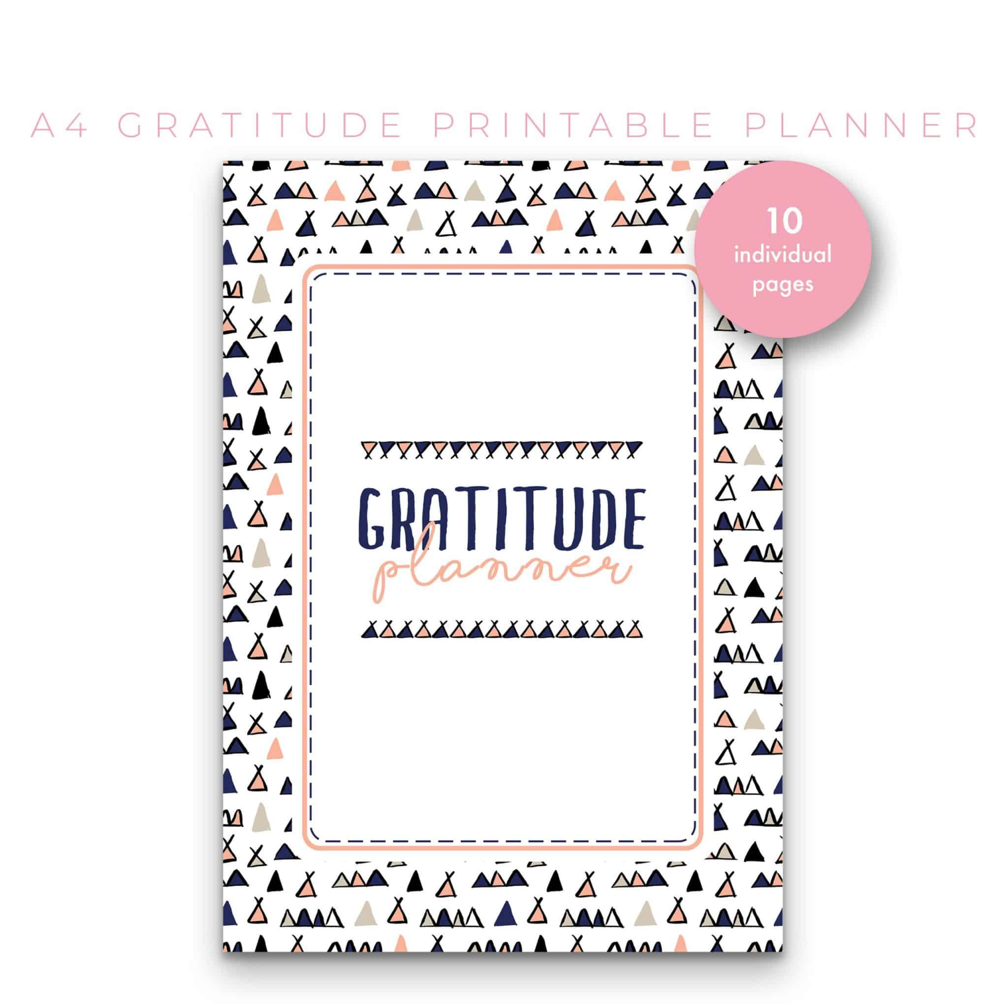 The Ultimate Gratitude Planner 10 in 1 – Navy and Peach