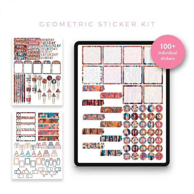 Geometric Sticker Bundle