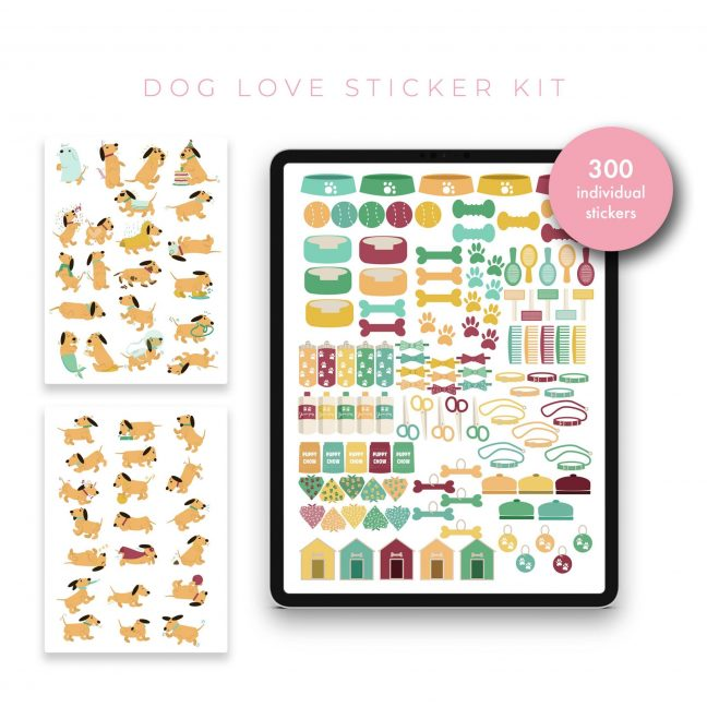 Dog Love Stickers