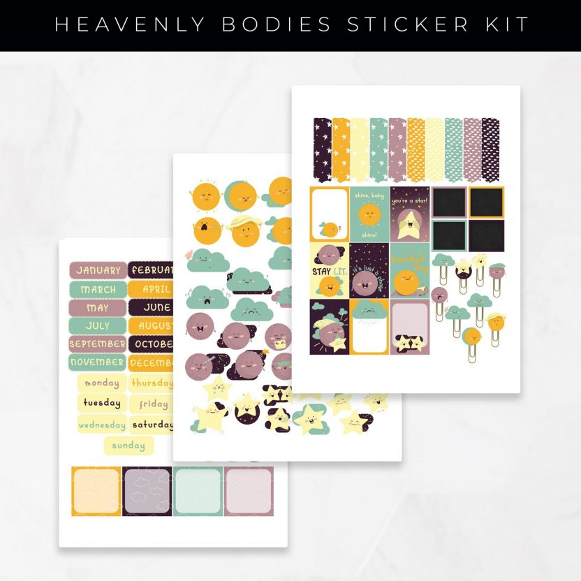 Heavenly Bodies Stickers