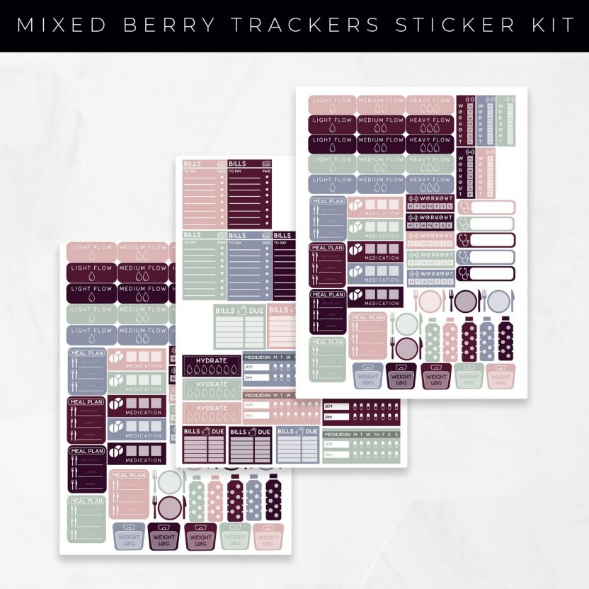 Tracker Bundle Stickers Mixed Berry Set