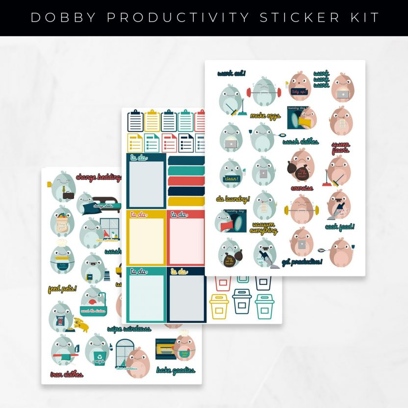 Dobby Gets Productive Stickers