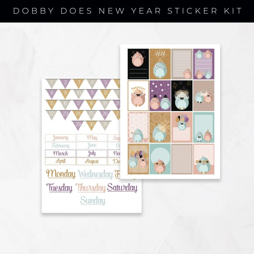 Dobby Does New Year Stickers