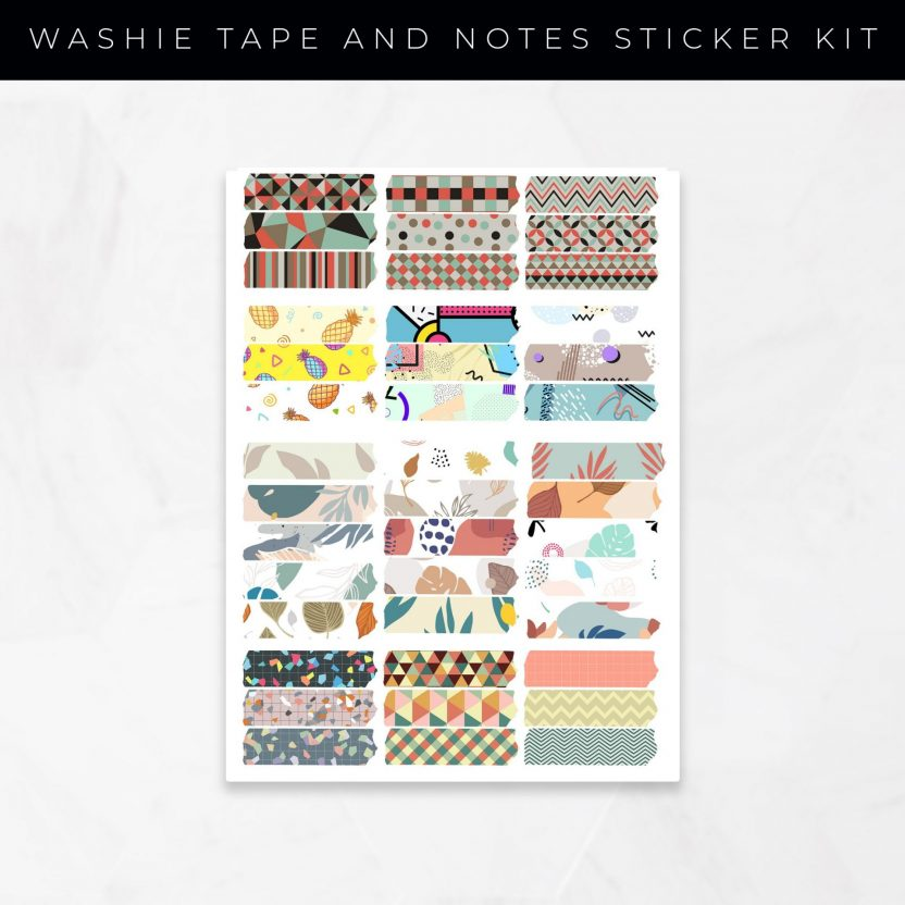 Washie Tape and Notes Stickers