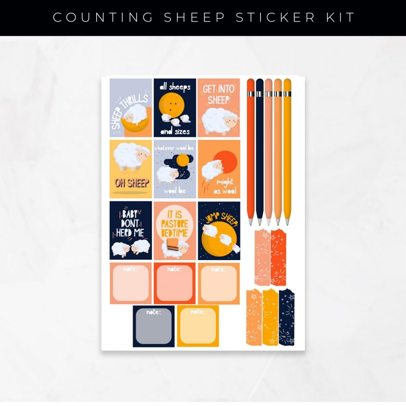 Counting Sheep Stickers
