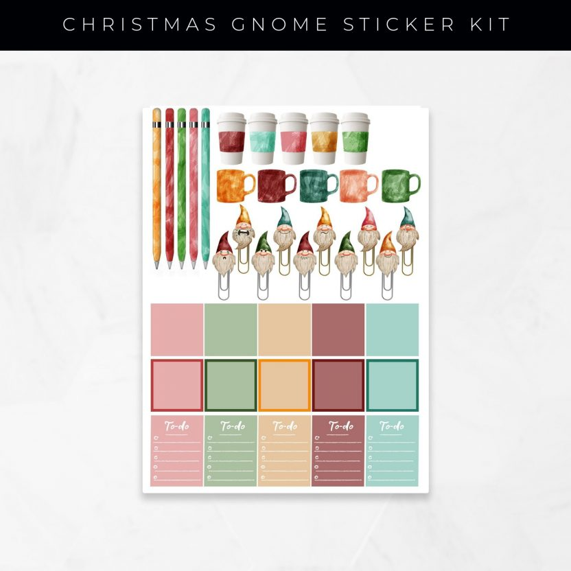 Christmas Gnome Stickers