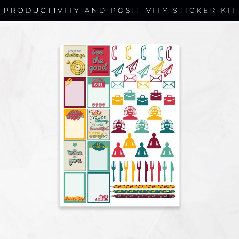 Productivity and Positivity Stickers