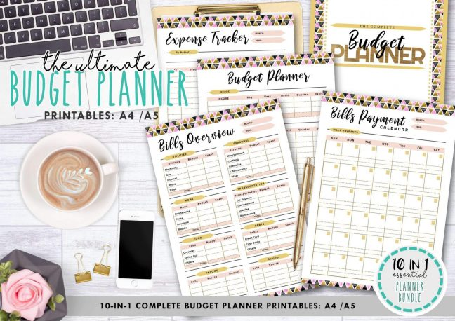Ultimate Budget Planner 10 in 1 – Peach