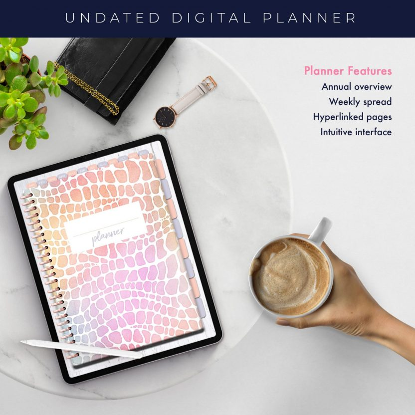 Wild Rainbow Alligator Undated Planner