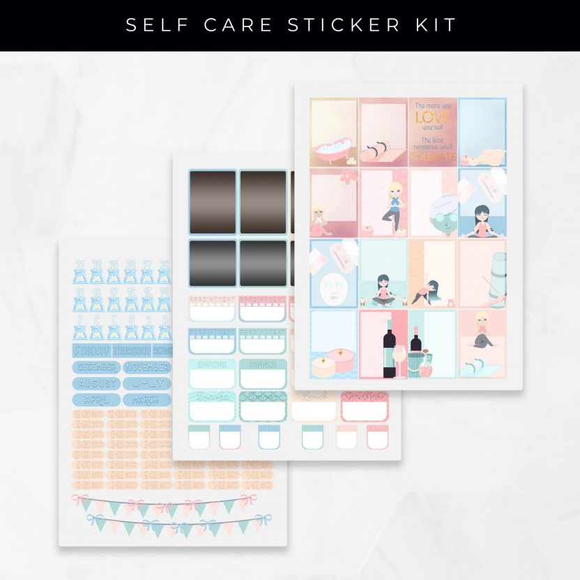 Self Care and Love Stickers