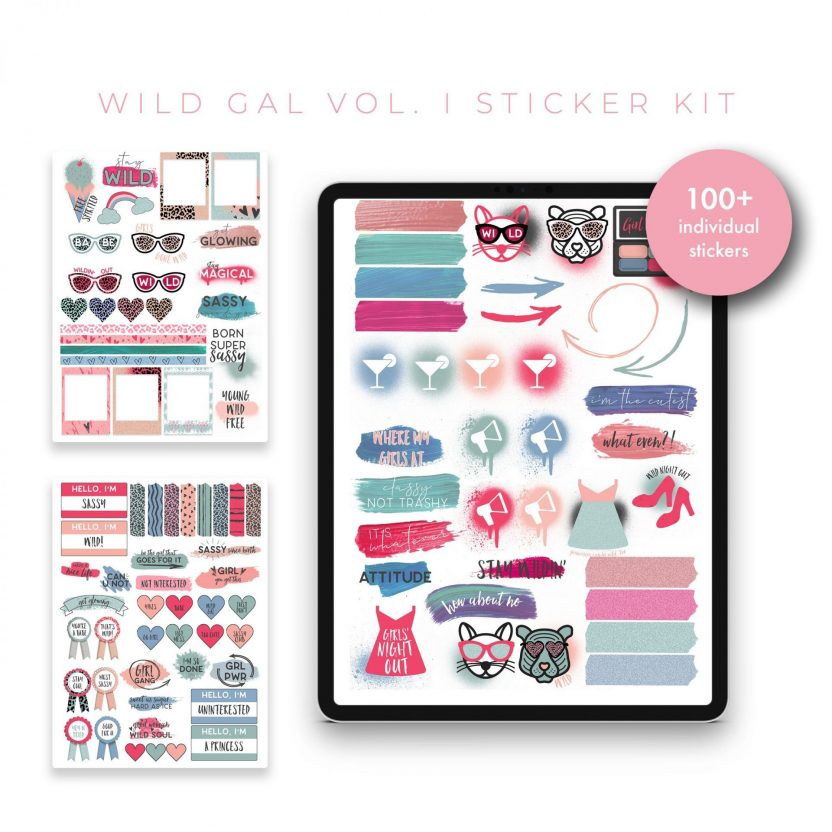 Wild Gal Vol 1 Stickers