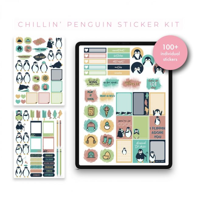 Chillin Penguin Stickers