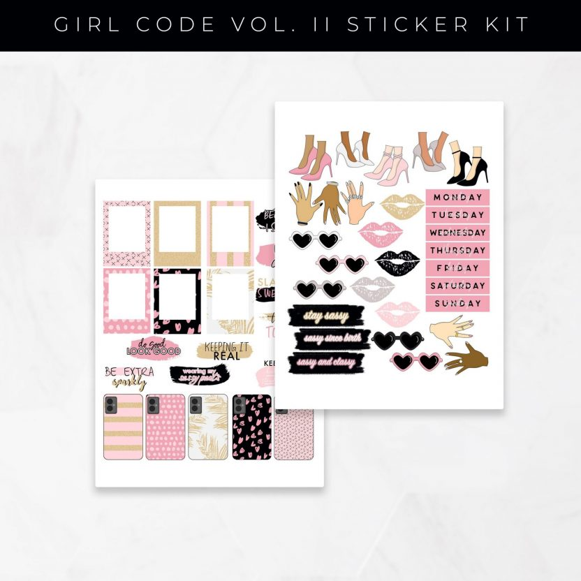 Girl Code Vol 2 Set B Stickers