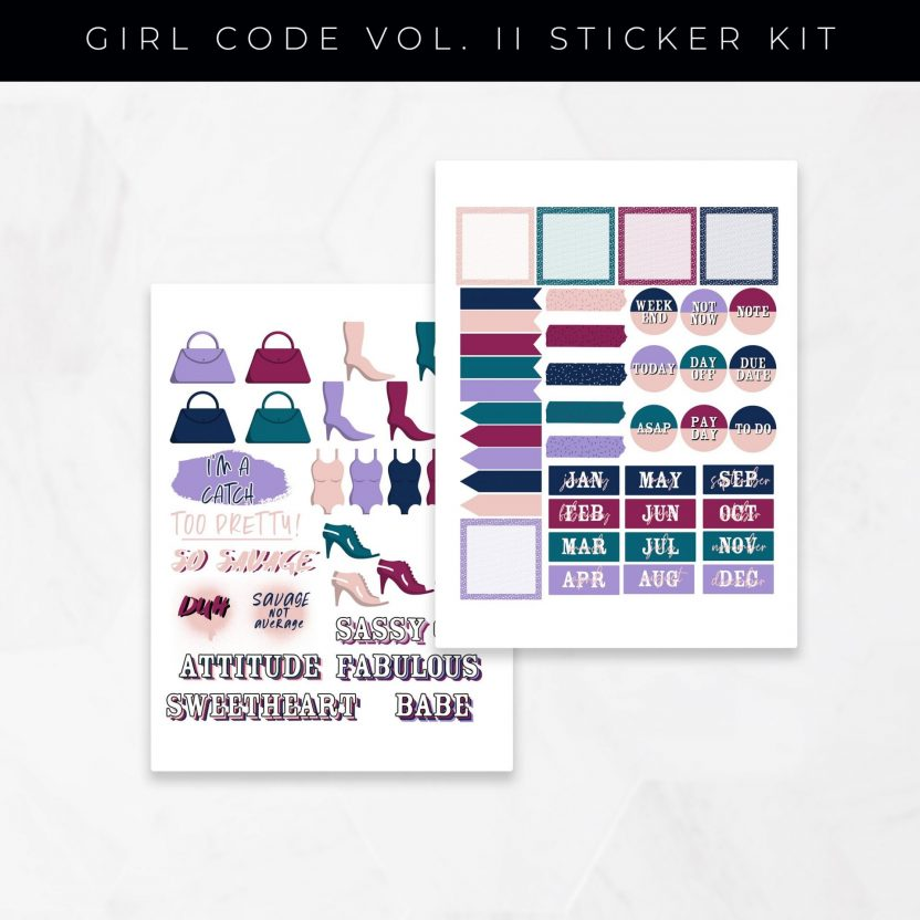 Girl Code Vol 2 Set A Stickers